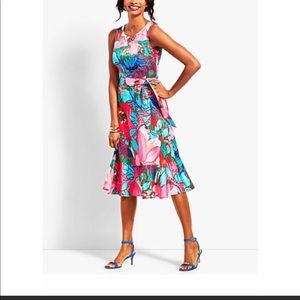 RSVP By Talbots Bright Flora Shealth Dress